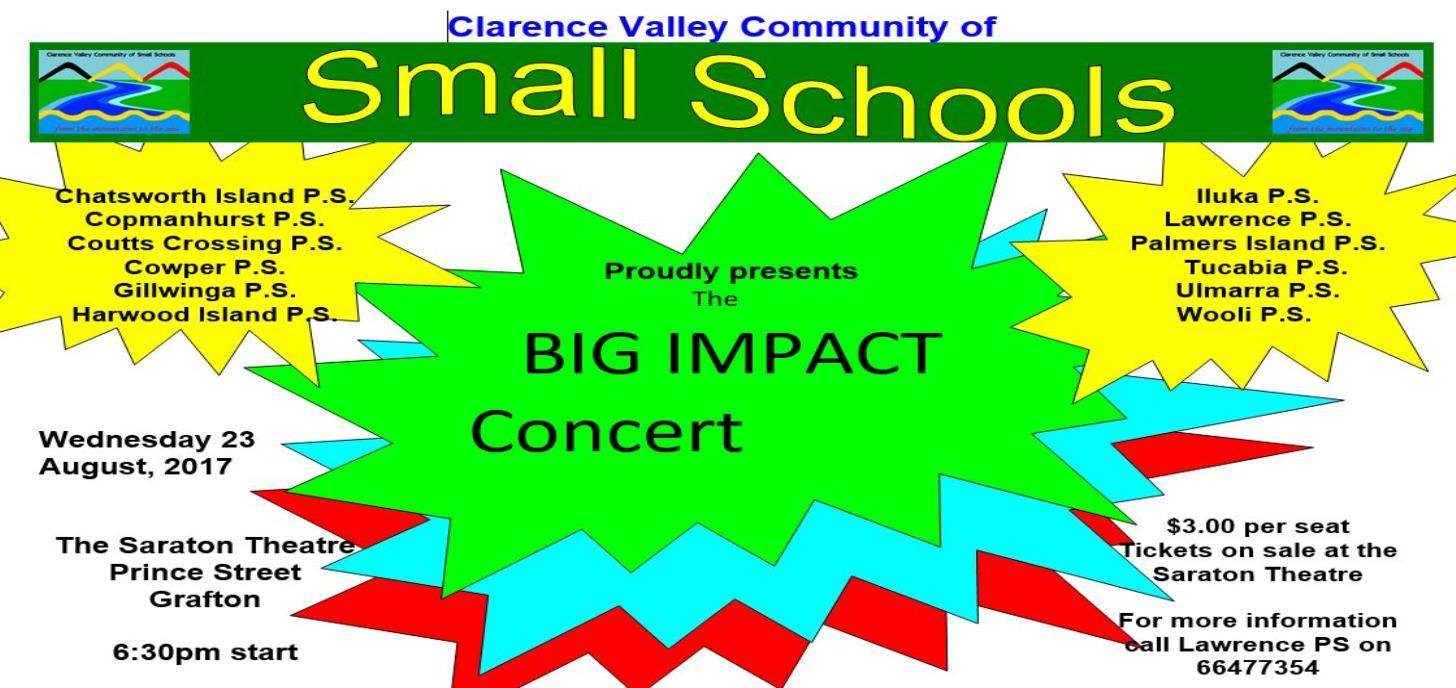 Small Schools- BIG IMPACT CONCERT