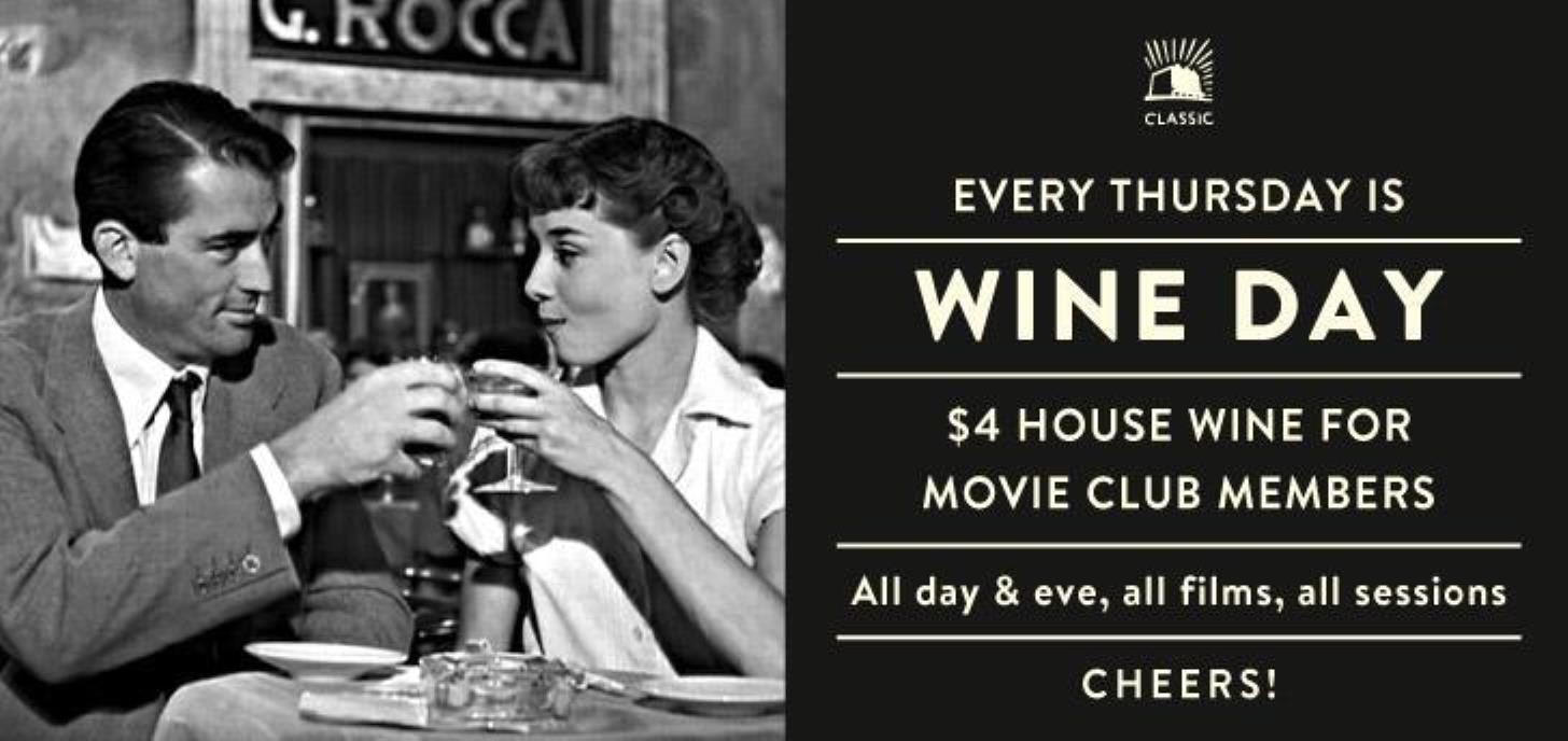 $4 Wine Thursdays for Classic Members