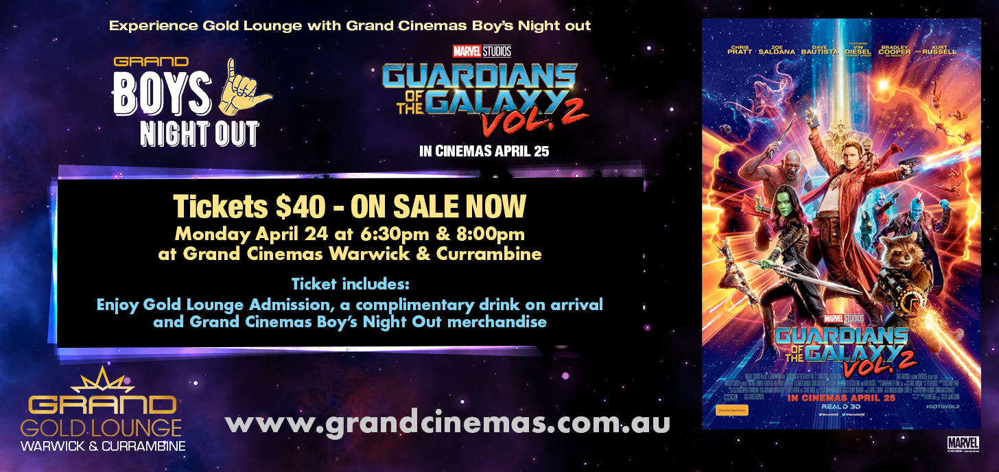 Boys Night Out: Guardians of the Galaxy Vol. 2