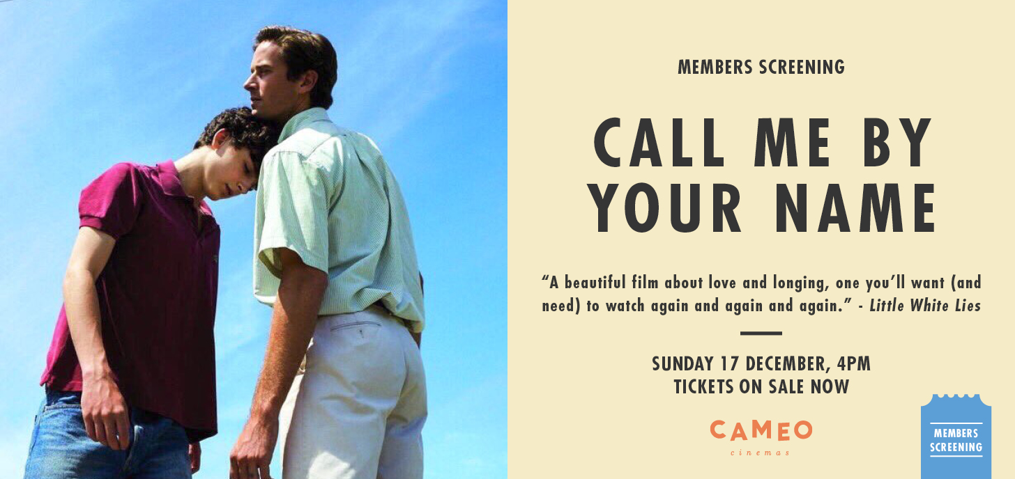 Call Me By Your Name Members Screening