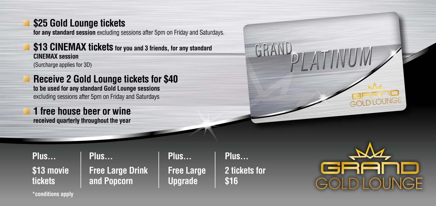Get the VIP treatment with a Grand Platinum Card