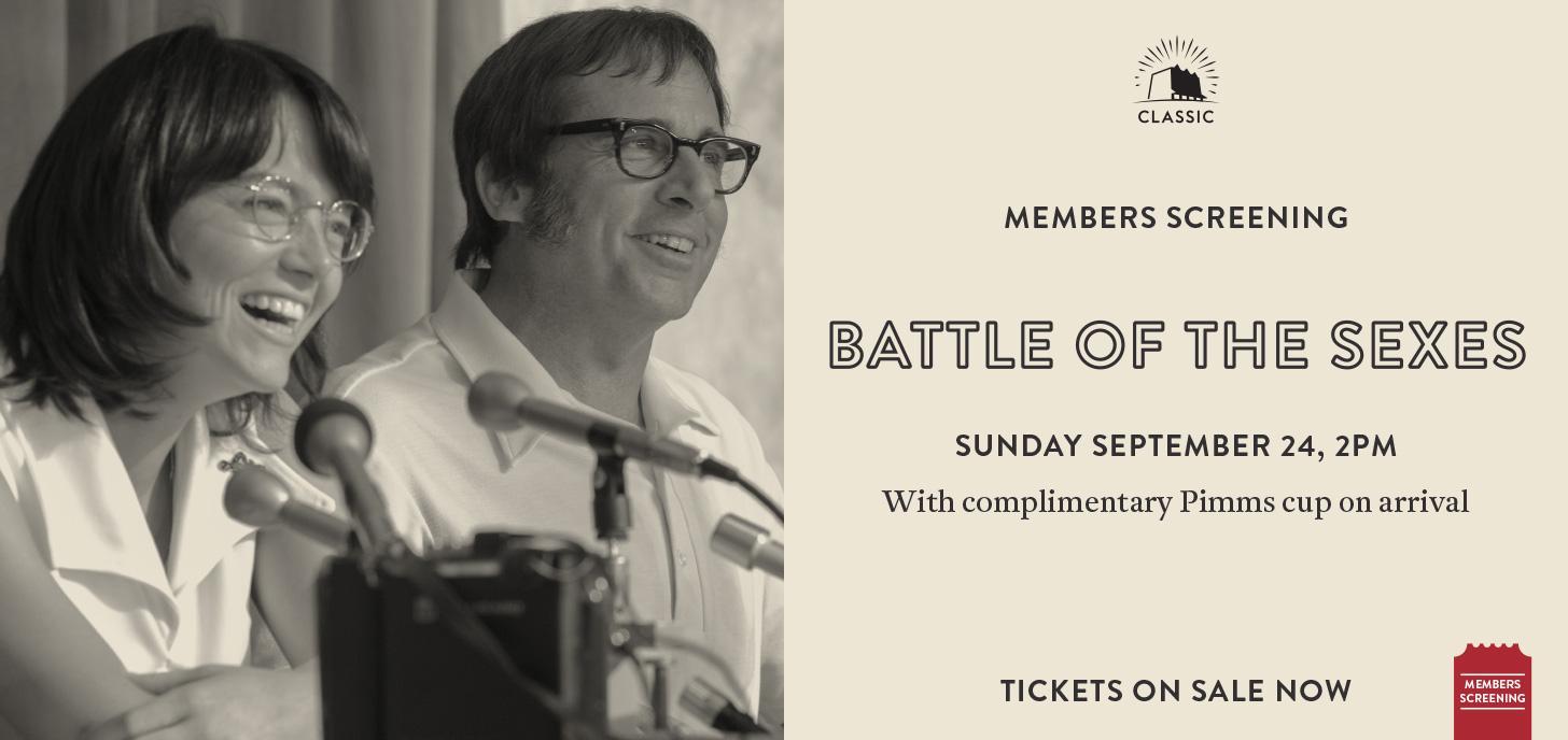 Battle Of The Sexes - Members Screening
