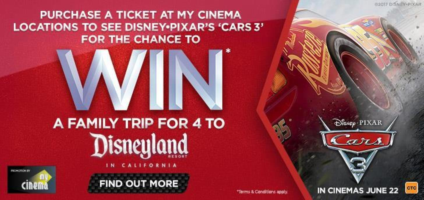 See Cars 3 at Grand for your chance to win!