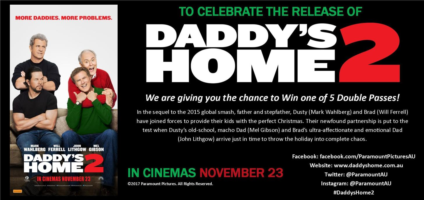 Win 1 of 5 Double Passes to see