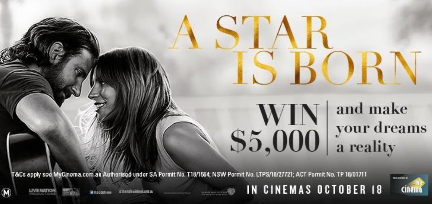 Go in the draw to win $5,000 thanks to MyCinema