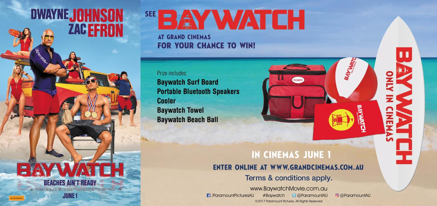 Win a Baywatch inspired prize pack