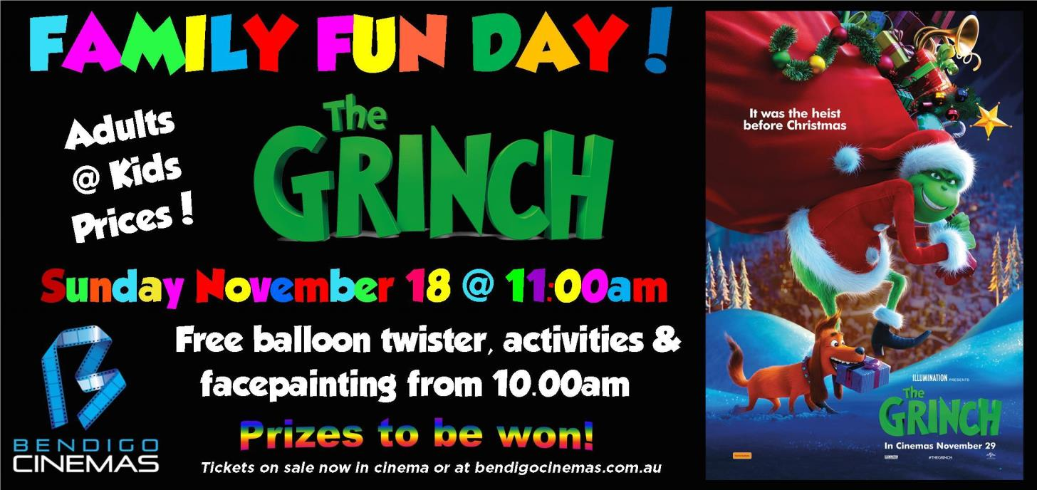 Family Fun Day Advance Screening - The Grinch