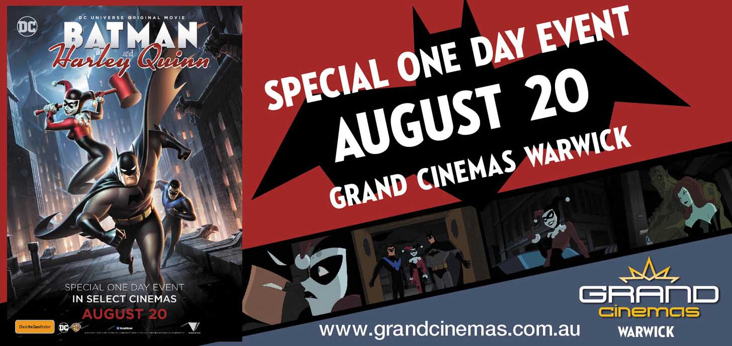 One Session only, Grand Cinemas Warwick