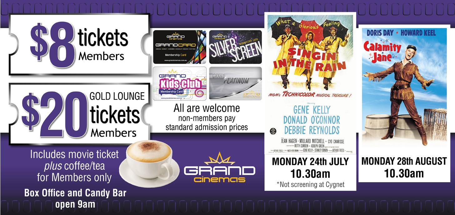 Check your local Grand Cinema for Session times