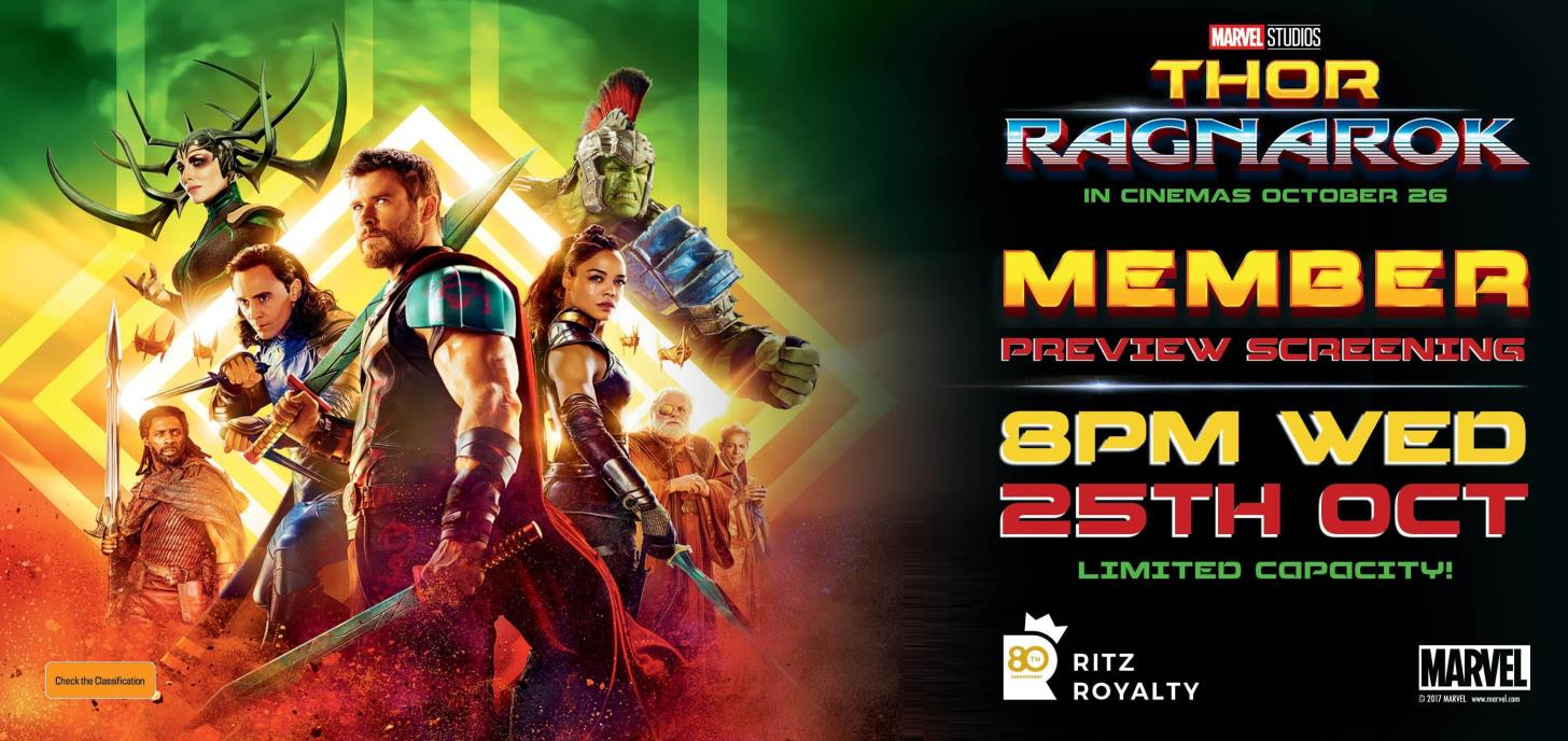 THOR: RAGNAROK preview screening