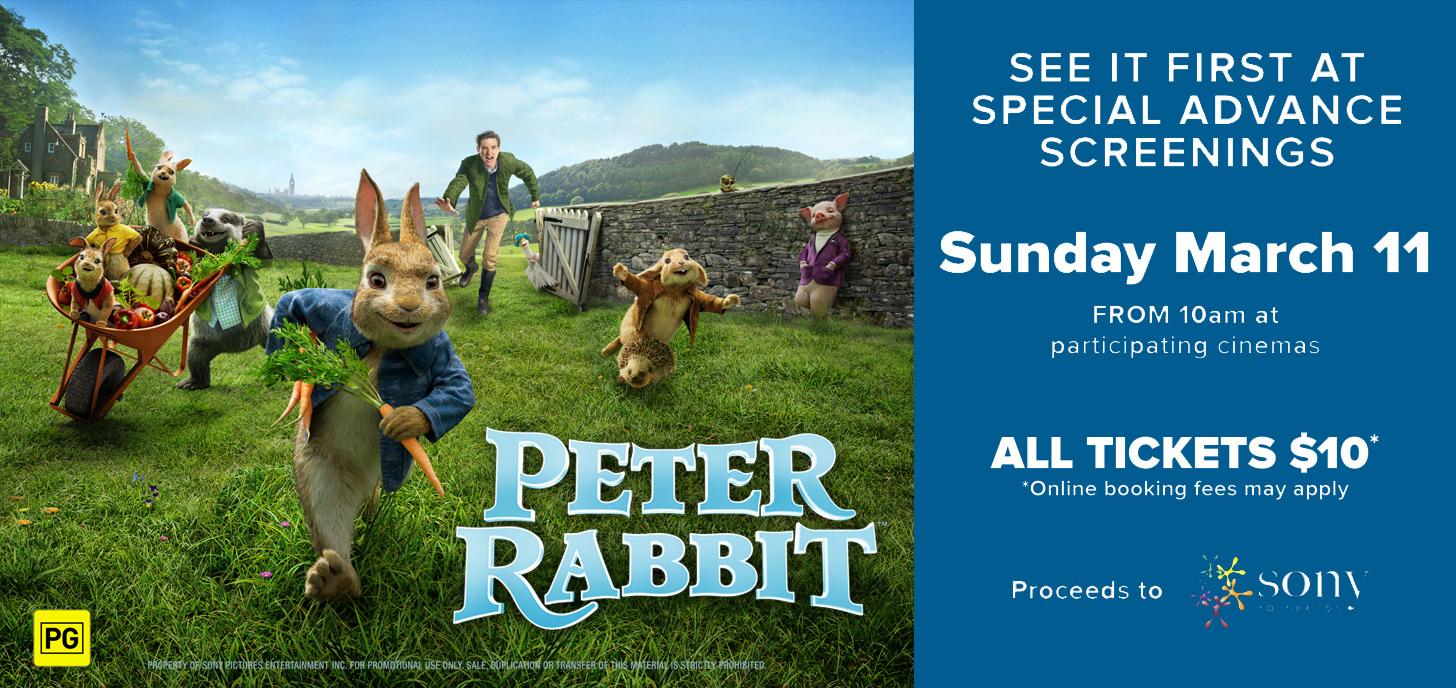 Advance Screenings of Peter Rabbit