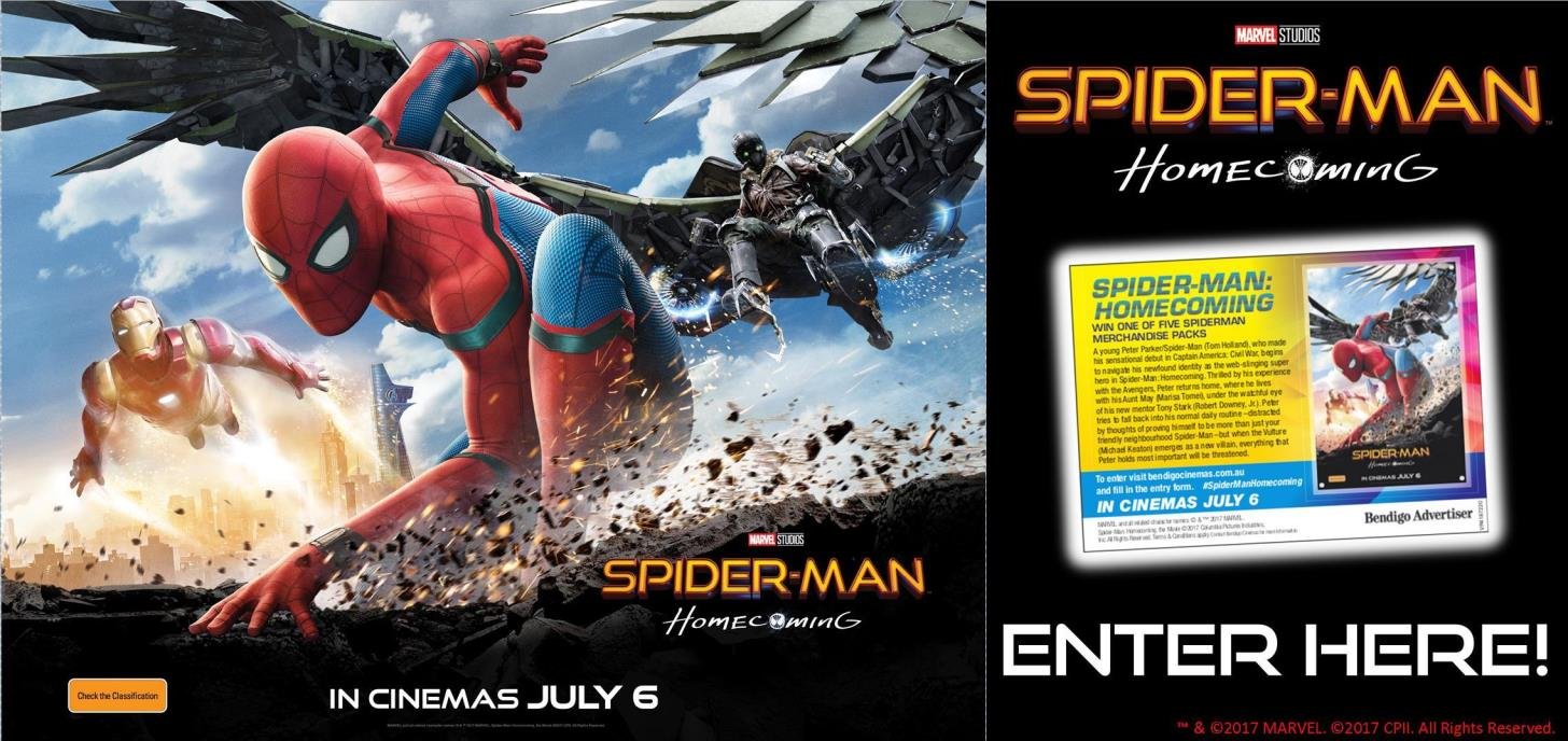 Win a Spiderman: Homecoming Prize Pack!
