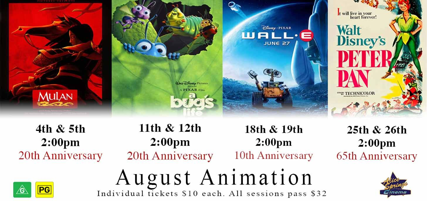 Animation classics every weekend in August