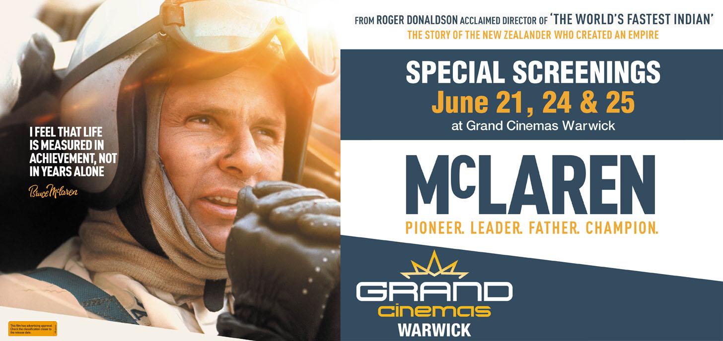 Playing at Grand Cinemas Warwick June 21, 24 & 25