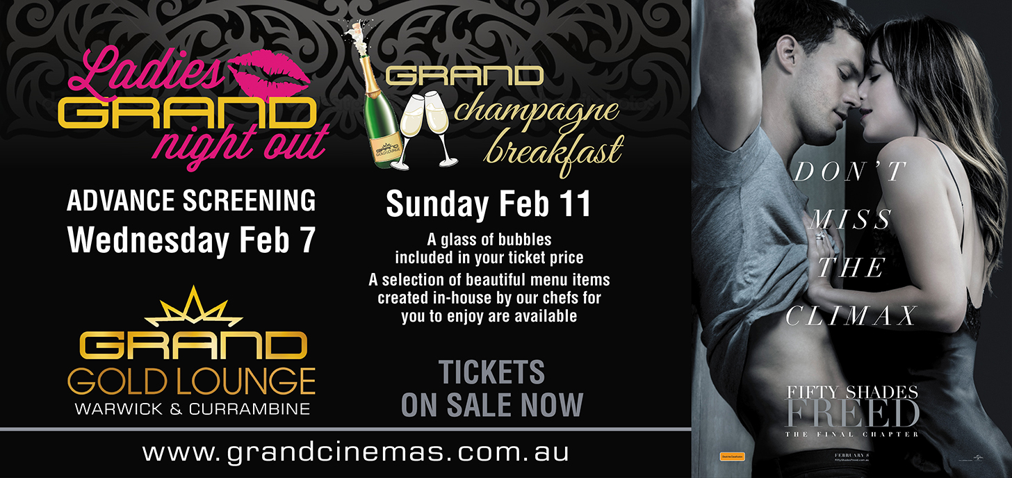Ladies Night and Champagne Breakfast on sale now
