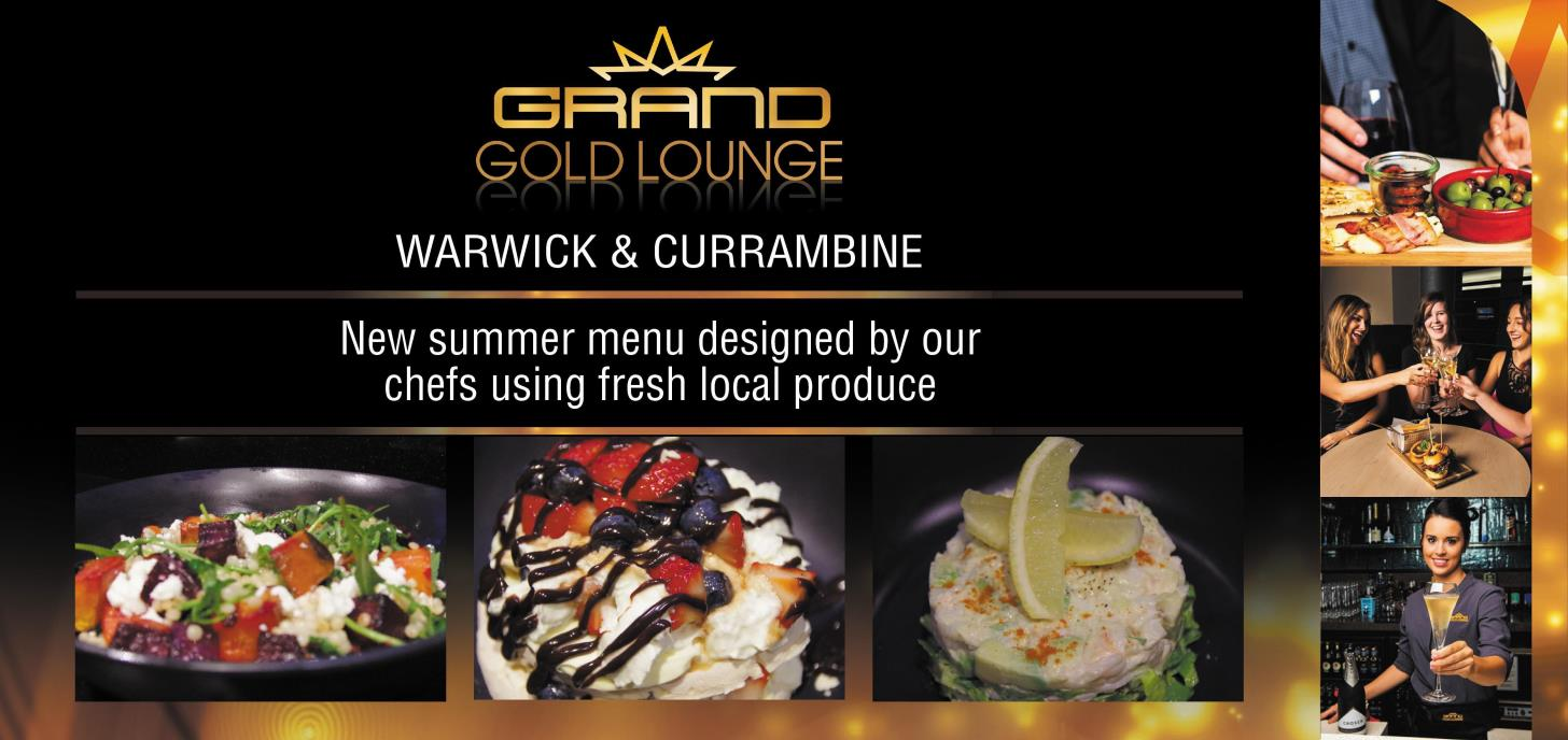 Try our new Summer menu in the Gold Lounge today