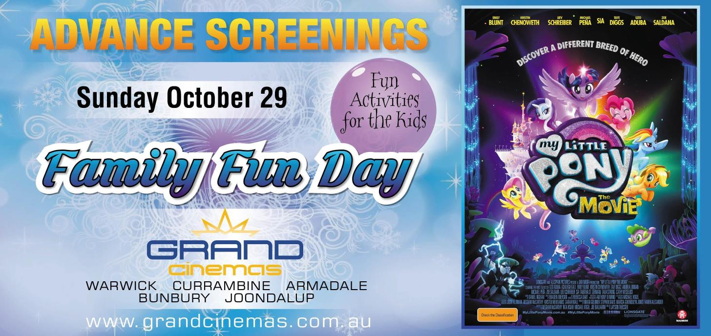 Advance screenings of My Little Pony: The Movie