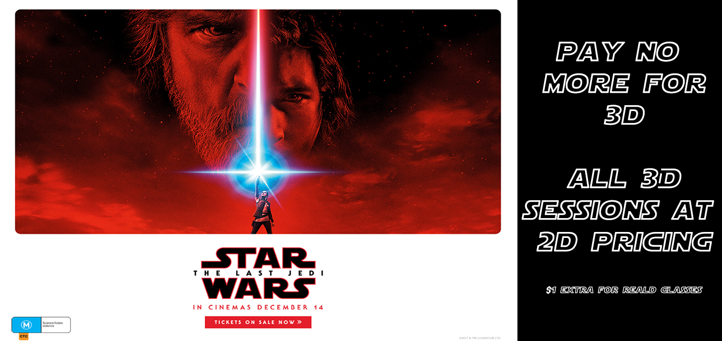 Star Wars: The Last Jedi Pay no extra for 3D