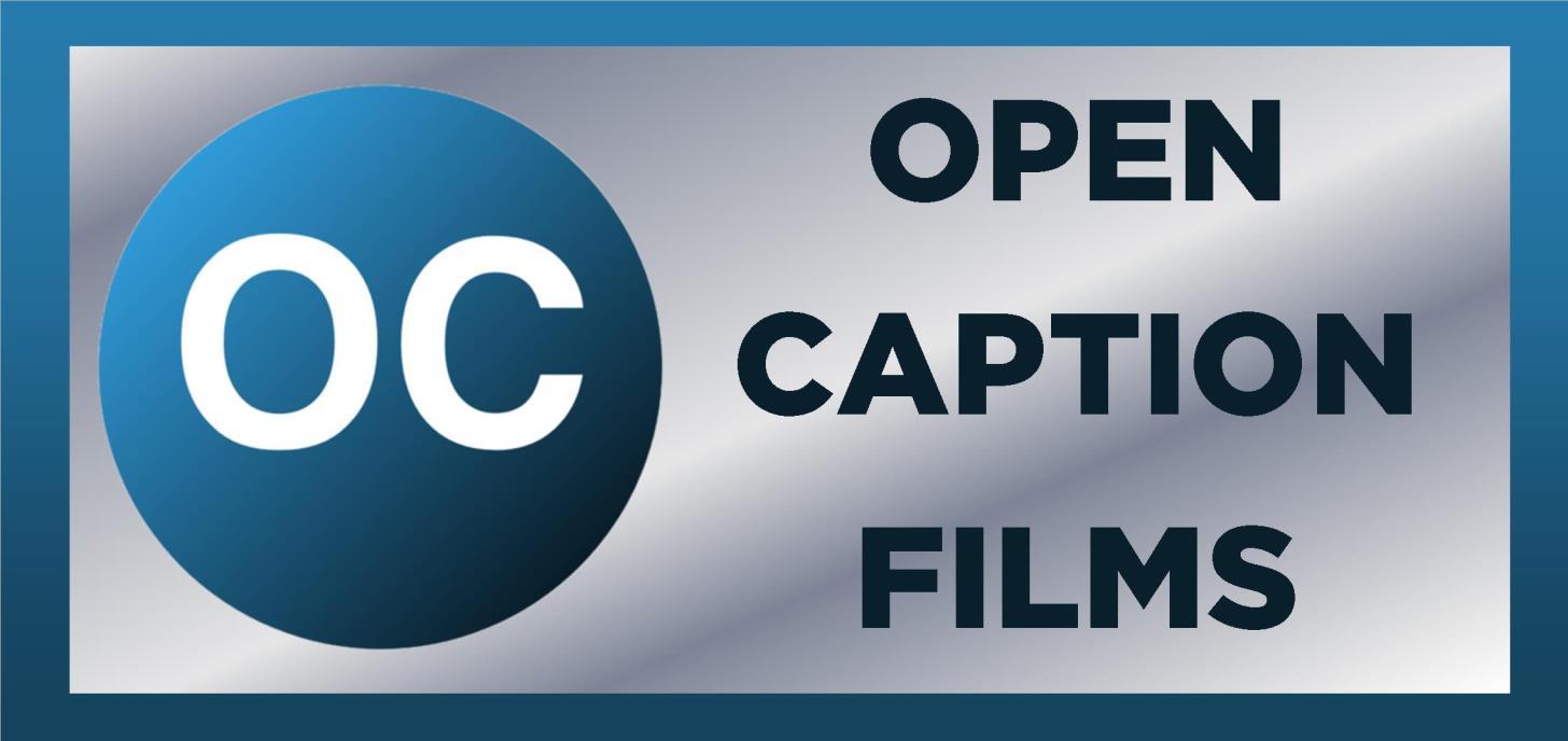Open Caption Screenings