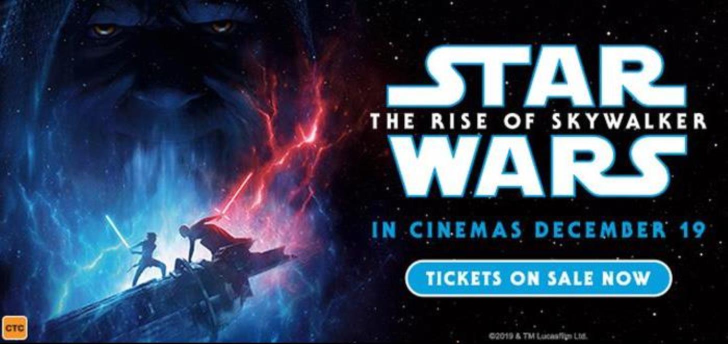 12.01am screening Dec 19 (Wed night) STAR WARS Ep9