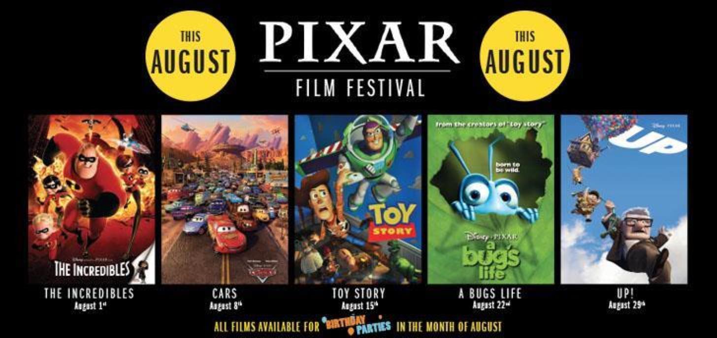 PIXAR FILM FESTIVAL COMING SOON
