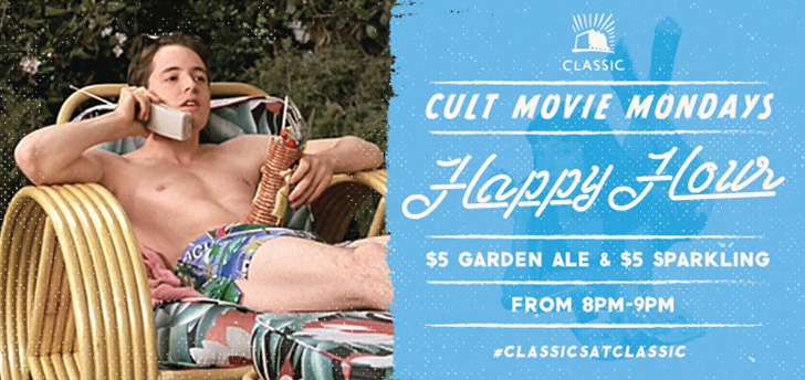 Cult Movie Mondays Happy Hour!