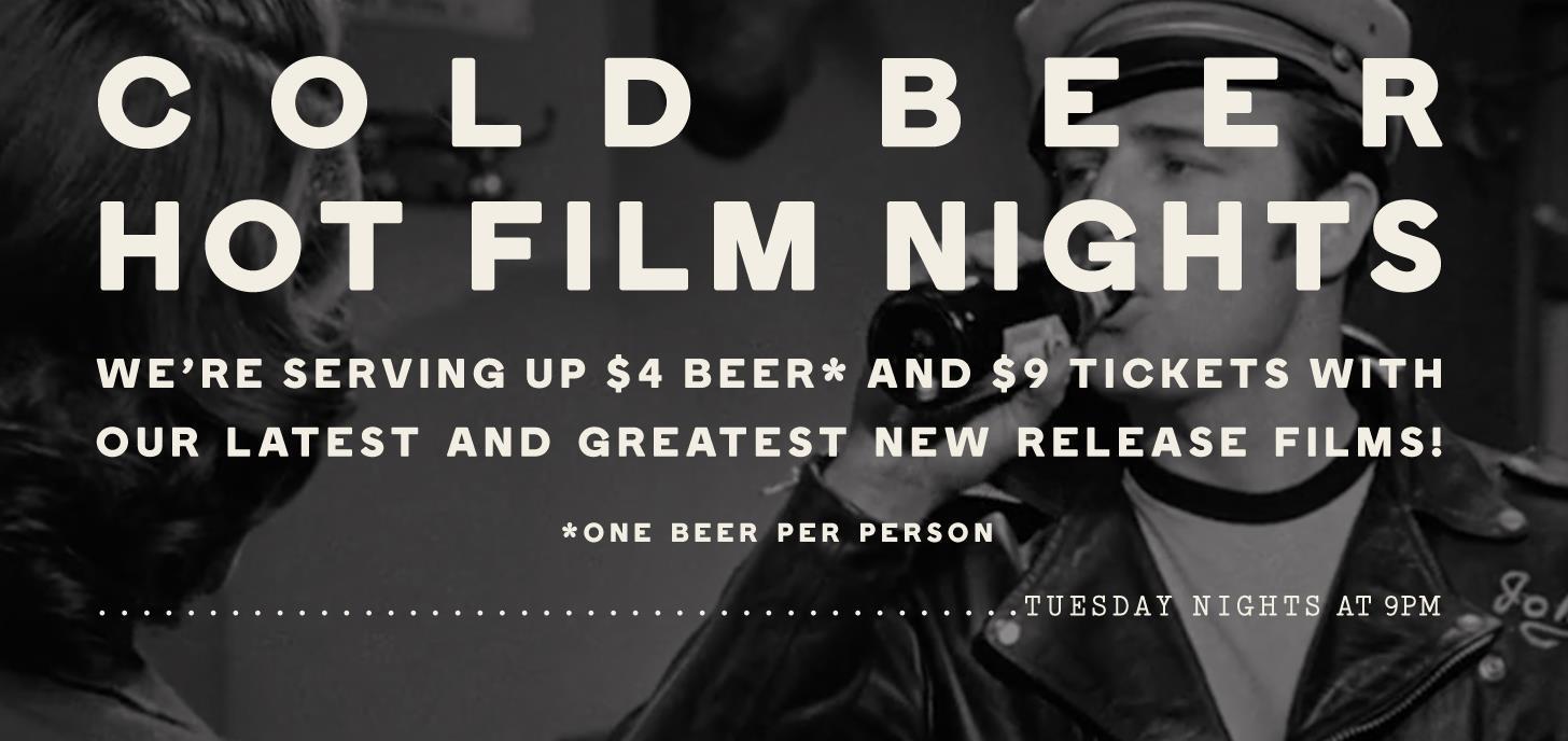 Cold Beer, Hot Film night at Lido